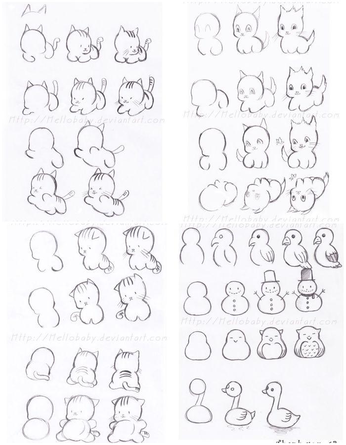 สอนวาด ภาพสุนัข แมว การ์ตูนลายเส้น ง่ายนิดเดียว Cartoon